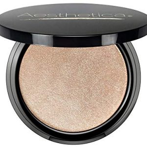 Aesthetica Starlite Highlighter - Metallic Shimmer Highlighting Makeup Powder - Venus (Pearlescent White)