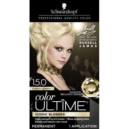 Schwarzkopf Color Ultime Permanent Hair Color Cream, 15.0 Extreme Lightener (Packaging May Vary)