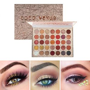 COCO VENUS Eyeshadow Palette 35 Pop Colors High Pigment Waterproof Eye Makeup Palette