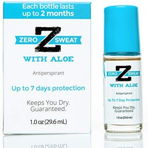 ZeroSweat Antiperspirant Deodorant with Aloe   Clinical Strength Hyperhidrosis Treatment - Reduces Armpit Sweat for Up To 7-days per Use - Protection from Excessive Sweating and Odor for Men and Women
