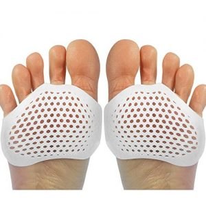 Gel Metatarsal Pads 6Pcs, Ball of Foot Cushions with Breathable Honeycomb Toe Separator Mortons Neuroma Callus Metatarsal Foot Pain Relief Bunion Forefoot Cushioning Relief Women (Style 1)