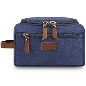 Mens Toiletry Bag,Lanivas Luxury Overnight Bag Vintage Groomsmen Gift Pouch Blue