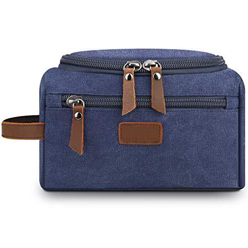 Mens Toiletry Bag,Lanivas Luxury Overnight Bag Vintage Groomsmen Gift Pouch Blue