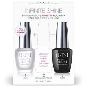 OPI Nail Polish Base Coat Prime & Gloss Top Coat, Infinite Shine Duo Set, 0.5 Fl Oz each bottle