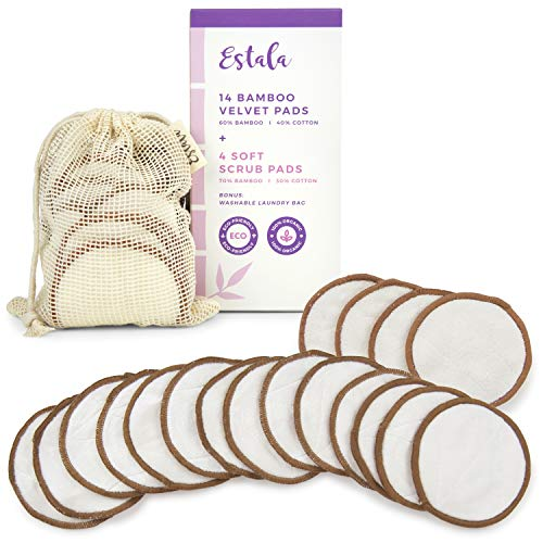 Reusable Make Up Remover Pads   18 Bamboo Removal Pads with Laundry Bag   Washable and Eco-Friendly   For All Skin Types   Face Cleaner and Eye MReusable Make Up Remover Pads   18 Bamboo Removal Pads with Laundry Bag   Washable and Eco-Friendly   For All Skin Types   Face Cleaner and Eye Make Up Remover Padsake Up Remover Pads