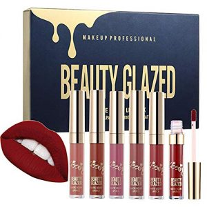 Beauty Glazed 6pcs/set Makeup Matte Not Faded Lipstick Lip Kit Gloss Long Lasting Lip Stick Cosmetics Mini Set