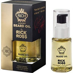 RICH by Rick Ross Luxury Beard Oil for Men With Jojoba & Castor Oil - Conditions & Softens Your Beard and Mustache - Reduces Beard Itch, 1 Fl Oz
