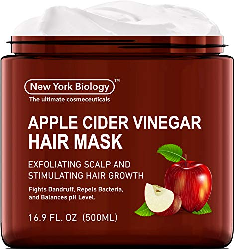 Apple Cider Vinegar Hair Mask for Dry Hair and Scalp - Moisturizing and Deep Conditioning Dry Hair Treatment – Promote Hair Growth, Balance pH Levels, Fights Dandruff and Frizzy Hair - 16 Oz