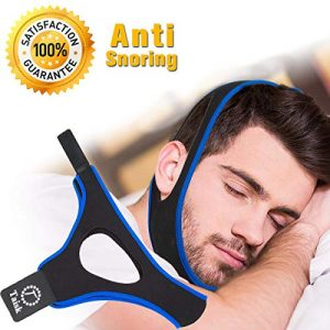 Taisk Anti Snoring Chin Strap, Comfortable Universal Anti Snoring Devices Adjustable Effective Stop Snoring Sleep Aid Snore Reducing Aid for Women & Men (One Set BlueBlack)