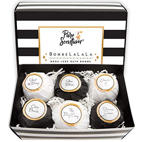 Bath Bombs Gift Set - Luxury Organic Bath Bombs for Her - Vegan Beauty Gift Set - US Made