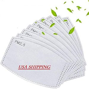 50PCS PM2.5 Replaceable Filters, Universal Activated Carbon Protective Mouth Face Cover Insert Replaceable Filters, Anti-haze Face Shield Filters Pads for Adult
