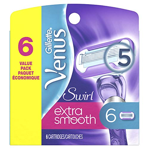 Gillette Venus Extra Smooth Swirl Women's Razor Blade Refills, 6 Count