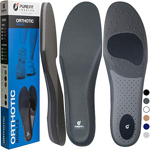 Arch Support Insoles for Men Women, PureFit Plantar Fasciitis Memory Foam Shoe Inserts, Orthotic Insoles Relieve Flat Feet Pain, Running Athletic Work Boot Pad, Like Walking on a Cloud