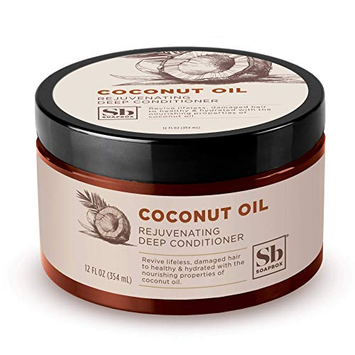 Soapbox Deep Conditioner, 12 oz Jar, Hydrating Deep Conditioning Hair Treatment for Natural, Curly, Dry or Damaged Hair | Sulfate Free, Paraben Free, Cruelty Free, Silicone Free, and Vegan