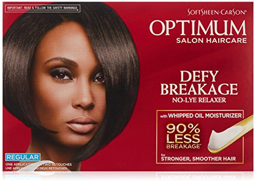 Optimum Care by SoftSheen Carson Care Defy Breakage No-lye Relaxer, Regular Strength for Normal Hair Textures, Optimum Salon Haircare, Hair Relaxer with Coconut Oil, 1 Kit