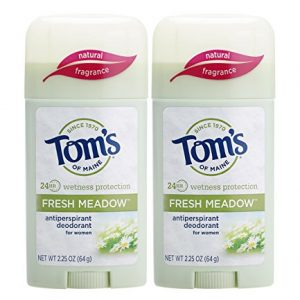 Tom's of Maine Women's Antiperspirant Deodorant Stick, Deodorant for Women, Antiperspirant for Women, Fresh Meadow, 2.25 Ounce, 2-Pack