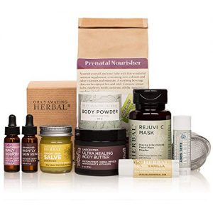 Naturally Beautiful Maternity Gift Set, Pregnancy Gift, Skin Care for Mom To Be, Holistic Expectant Mother's Gift With Prenatal Organic Herbal Tea, Ora's Amazing Herbal