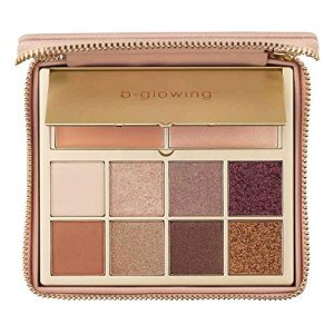 b-glowing Illuminate + Shine - Designed for Mature Women - 8 Matte Shimmer Satin Colors, Brightening Eye Concealer Primer & Skin Highlighter - Pro - Soft, Nudes, Natural, Bronze, Neutrals, Pigmented