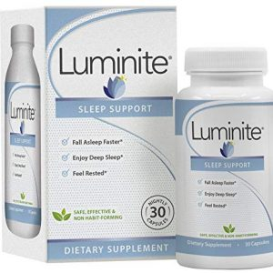 Luminite Sleep Support - Nighttime Sleep Aid Supplement - L-Tryptophan, Melatonin, Chammomile - Non Habit Forming