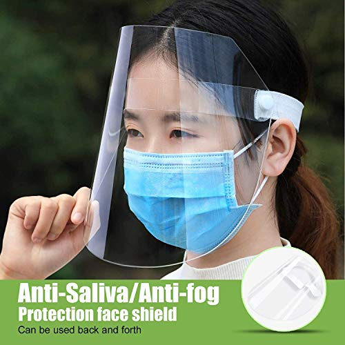 3 Pack Face Shield Anti Pollution Protective Cover Adjustable Shield Dustproof Outdoor Plastic Cover for Men and Women