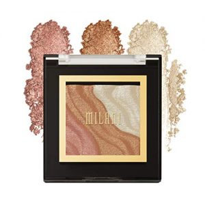 Milani Spotlight Face & Eye Strobe Palette - Sun Light (0.23 Ounce) Cruelty-Free Highlighter & Eyeshadow Compact - Shape, Contour & Highlight with Shimmer Shades