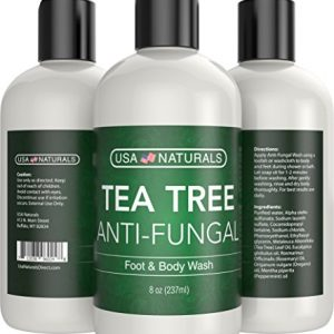 Antifungal Tea Tree Oil Body Wash - Antibacterial Wash Helps Eliminate Body Odor, Athlete's Foot, Acne, Toenail Fungus & Jock Itch Soothes Body Itch, Eczema & Skin Irritations-Premium Anti-fungal Soap