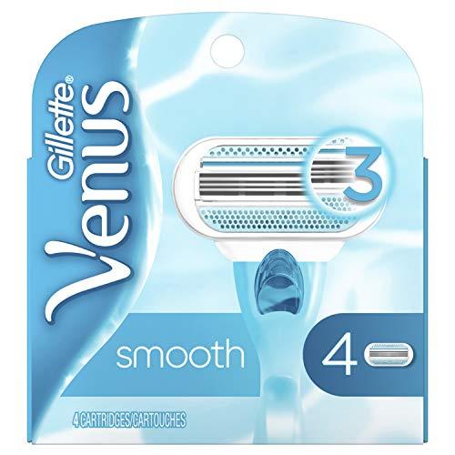 Gillette Venus Smooth Women's Razor Blades - 4 Refills(Packaging May Vary)