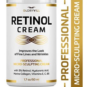 3% Retinol Anti Aging Face Cream - Made in USA - Retinol Moisturizer for Women & Men - Anti Wrinkle Night Cream - Retinol, Hyaluronic Acid & Collagen Moisturizer - Fine Lines Smoothing & Firming Cream