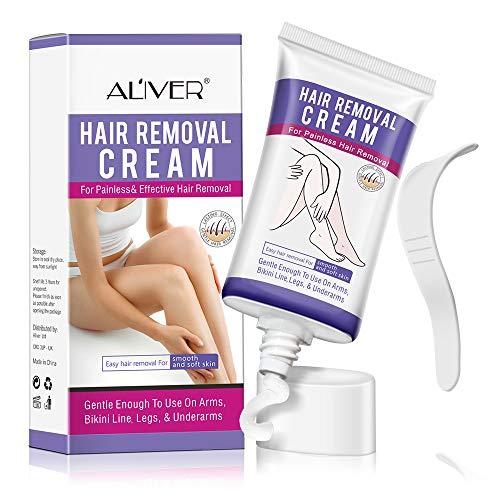 Hair Remover Cream,Depilatory Cream Sensitive Formula, Skin Friendly Natural Painless Flawless for Women and Men