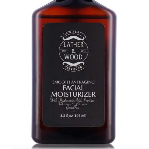 Face Moisturizer for Men - Lather & Wood's Luxurious Sophisticated Mens Moisturizer for the Man's Man. Fragrance-Free Face Cream for Men. (Unscented, 3.5 ounce)