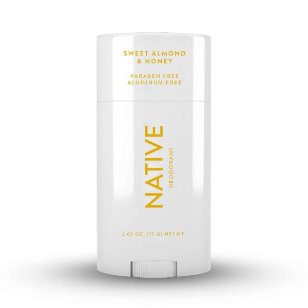 Native Deodorant - Natural Deodorant for Women and Men - Vegan, Gluten Free, Cruelty Free - Aluminum Free, Free of Parabens & Sulfates - Sweet Almond & Honey