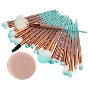 Joykith Makeup Brushes Sets 20PCS Make Up Foundation Eyebrow Eyeliner Blush Cosmetic Concealer Brushes Eye Face Liquid Powder Cream Brushes Kits Tools (B)