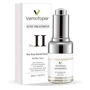 Tea Tree Acne Treatment Serum, Clear Skin Retinol Serum for Acne Breakouts Repair, Organic Skin Care with Natural Ingredients 20% Vitamin C, Niacinamide, Salicylic Acid & Hyaluronic Acid (1oz)
