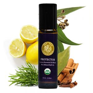 Organic Protector Essential Oil Blend (Based on the Legend of 4 Thieves), 100% Pure USDA Certified Organic - 10ml Pre-diluted Roll-on | Immunity Blend