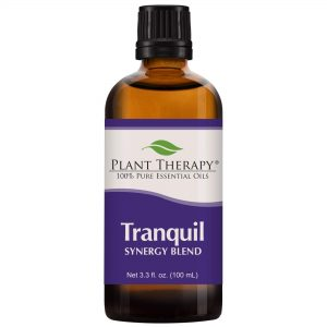 Plant Therapy Essential Oils Tranquil Synergy Blend - Stress Relief, Sleep, Peace & Calming Blend 100% Pure, Undiluted, Natural Aromatherapy, Therapeutic Grade 100 mL (3.3 oz)