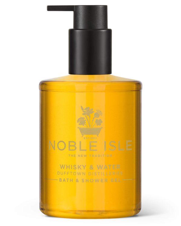 Noble Isle Whiskey & Water Bath & Shower Gel | Luxury Mens Body Wash with Fine British Fragrance Oils | Vegan Body Wash & Paraben Free Body Wash (8.45 oz)