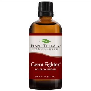 Plant Therapy Essential Oils Germ Fighter Synergy - Sinus Health and Cold Blend 100% Pure, Undiluted, Natural Aromatherapy, Therapeutic Grade 100 mL (3.3 oz)