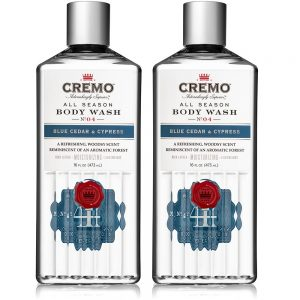 Cremo All Season Body Wash, Blue Cedar & Cypress, 16 Fl. Oz, 2 Pack - Rich, Powerful Fragrance Of Refreshing Blue Cedar Wood, Aromatic Cypress & A Citrus Zest