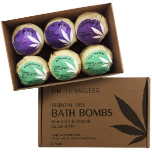 Natural Organic Bath Bomb Gift-Set - Coconut, Hemp and Essential Oils with a Blend of Refreshing Eucalyptus and Soothing Lavender – Handmade in USA for Men and Women (6 Pack) 4 oz
