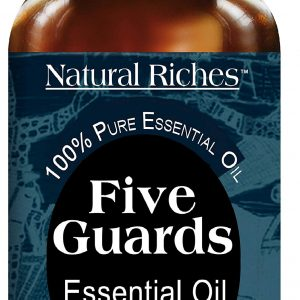 Natural Riches Five Guards Immunity Synergy Blend Health Shield Aromatherapy Essential Oils - Clove Cinnamon Lemon Rosemary Eucalyptus Oil Tales French Thieves (1 Pack) 30ml