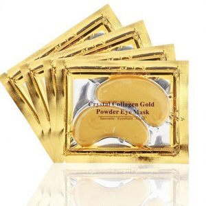 ACE BEAUTY 16-pair Crystal Collagen Gold Powder Eye Mask - Luxury Skin Care 24K Gold Eye Patches for Dark Circles - Anti-Aging and Wrinkle-Free Skin - Rejuvenated Younger Looking Eyes