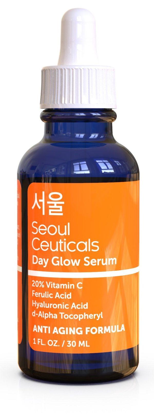Korean Skin Care K Beauty - 20% Vitamin C Hyaluronic Acid Serum + CE Ferulic Acid Provides Potent Anti Aging, Anti Wrinkle Korean Beauty 1oz