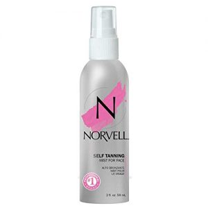 Norvell Sunless Self-Tanning Mist for Face & Touch-up Spray - Non Comedogenic Bronzer for Natural Sun-Kissed Glow, 2 fl.oz.