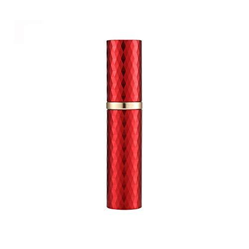 Refillable Perfume Bottle Atomizer for Travel, Portable Mini Easy Refillable Perfume Spray Pump Bottle for Men and Women, Luxury Cologne Sprayer, TSA Approved Fragrance Dispenser on the go (Red)