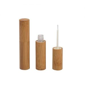 2Pcs 4ml Bamboo Eyeliner Vials Tube with Wand Applicators Empty Eyelashes Mascara Containers Bottle for Castor Growth Oil