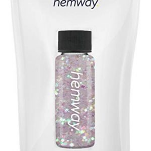 "Hemway Glitter Tube 12.8g / 0.45oz Extra Chunky 1/40"" 0.025"" 0.6MM Premium Sparkle Gel Nail Dust Art Powder Makeup Pigment Eyeshadow Face Body Eye Cosmetic Safe -(Mother Of Pearl)"