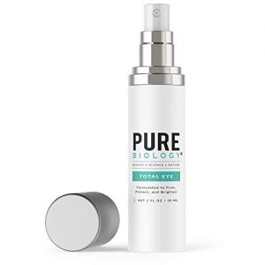 Pure Biology Premium Total Eye Cream Serum - Anti Aging Vitamin C, E & Hyaluronic Acid Reduce Dark Circles, Puffiness, Under Eye Bags, Wrinkles & Fine Lines for Men & Women, 1 oz