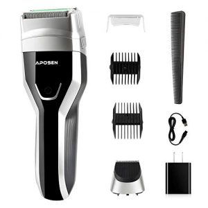Aposen Electric Razor for Men, USB Rechargeable Foil Shaver with LED Display, Wet & Dry ElectricShaver IPX7 100% Waterproof Cordless Foil Razor, G5 Black