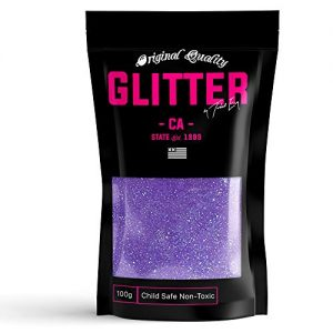 Purple Neon Premium Glitter Multi Purpose Dust Powder 100g / 3.5oz for use with Arts & Crafts Wine Glass Decoration Weddings Cards Flowers Cosmetic Face Body Nails (Packaging May Vary)