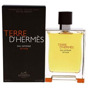 Terre D'Herm Eau Intense Vetiver Eau De Parfum for Men, 6.7 Ounce